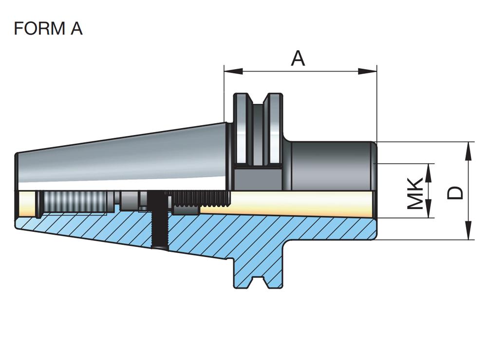 DIN2080 SK40 4 Morse taper adapter M16 draw bar thread 40INT INT ISO